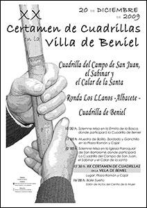 Cartel Certamen Cuadrillas Beniel 2009